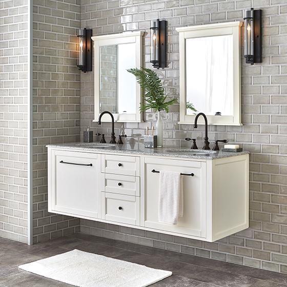 Hamilton Wall Hung 68 Double Bath Vanity Granite Vanity Tops Small Bathroom Decor Bathroom Interior