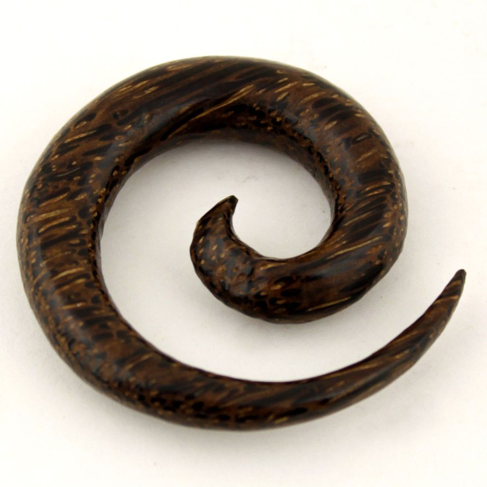 Palm Wood Spiral Gauge Earring Accessorize It Aretes