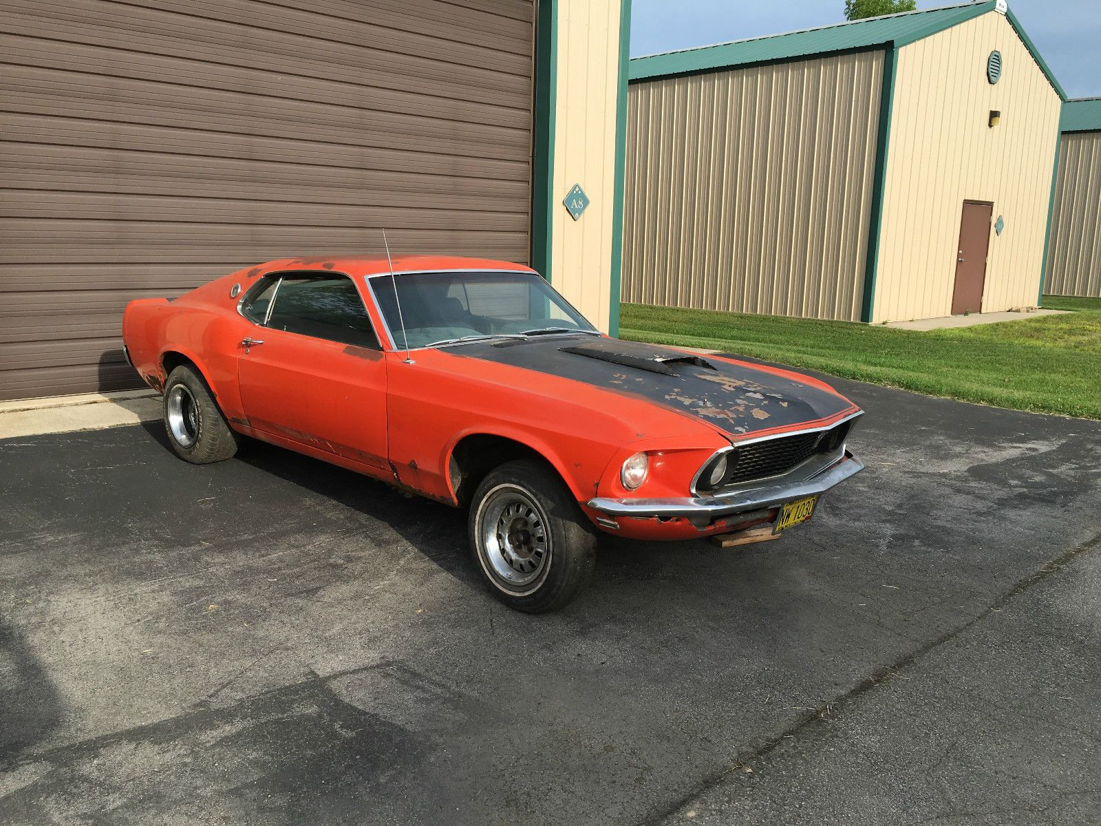 1969 ford mustang fastback sport roof project car for sale
