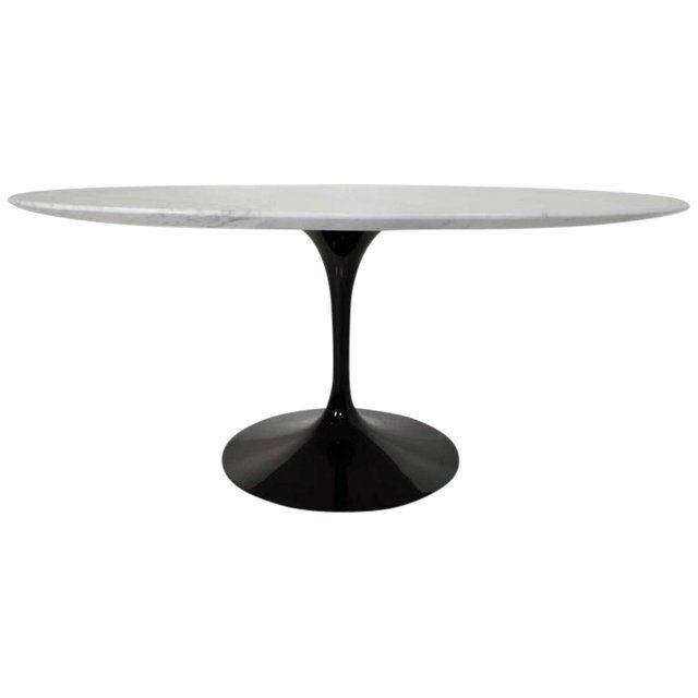 Eero Saarinen For Knoll Marble Top Tulip Table Tulip Table Tulip Dining Table Marble Top