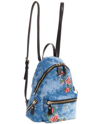 e40fb832b49 Guess Cool School Denim Small Backpack - Blue   Products