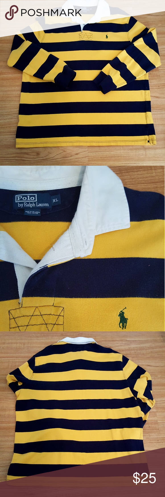 25682e9b995 ... reduced vintage polo ralph lauren striped rugby 7792f 759c1