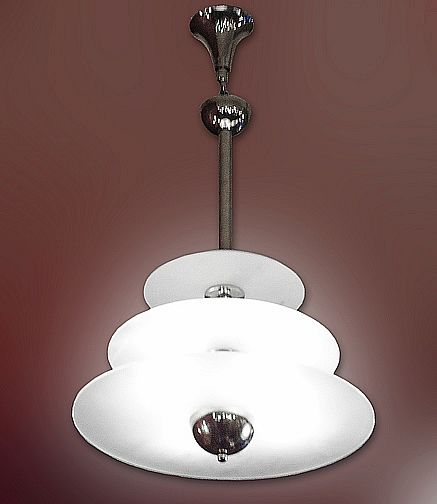 Just coming beautiful little modernist chandelier of the period 1930 just coming beautiful little modernist chandelier of the period 1930 3 floors disks in frosted aloadofball Gallery