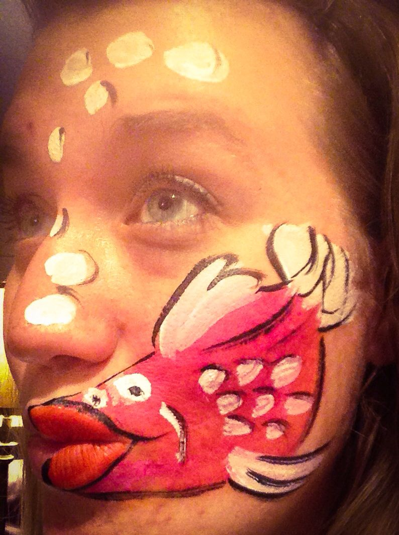 Fish face painting. Practicing for my booth...