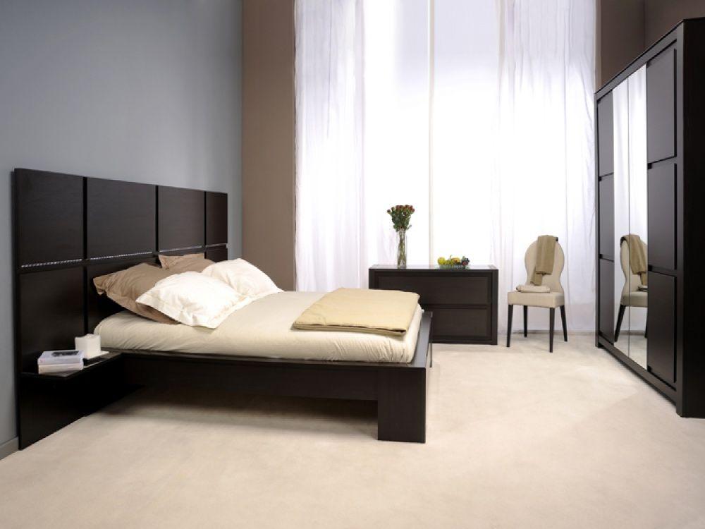 Hotel Dark Wenge Headboard Bed Set - Free Delivery | Bedroom ...
