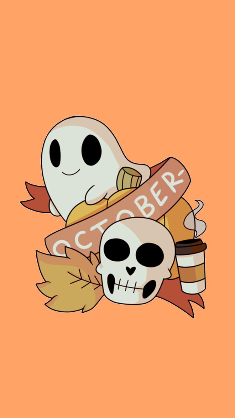 Cute Ghost Wallpaper Tumblr Halloween Wallpaper Halloween Images Cute Ghost