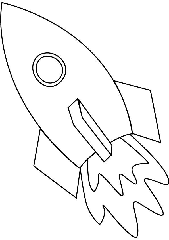 Space Ship Coloring Page Online Coloring Pages