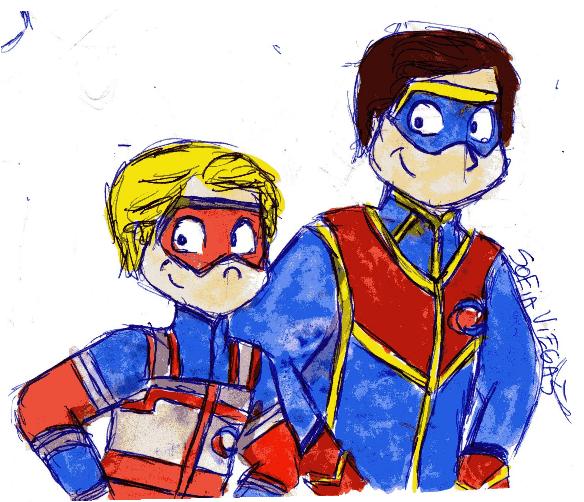 Kid Danger & Capitán Man de Henry Danger   Capitan man ...