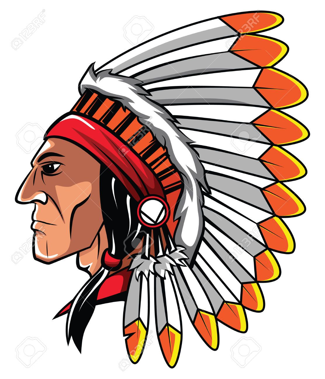 Headdress Clipart Apache #1