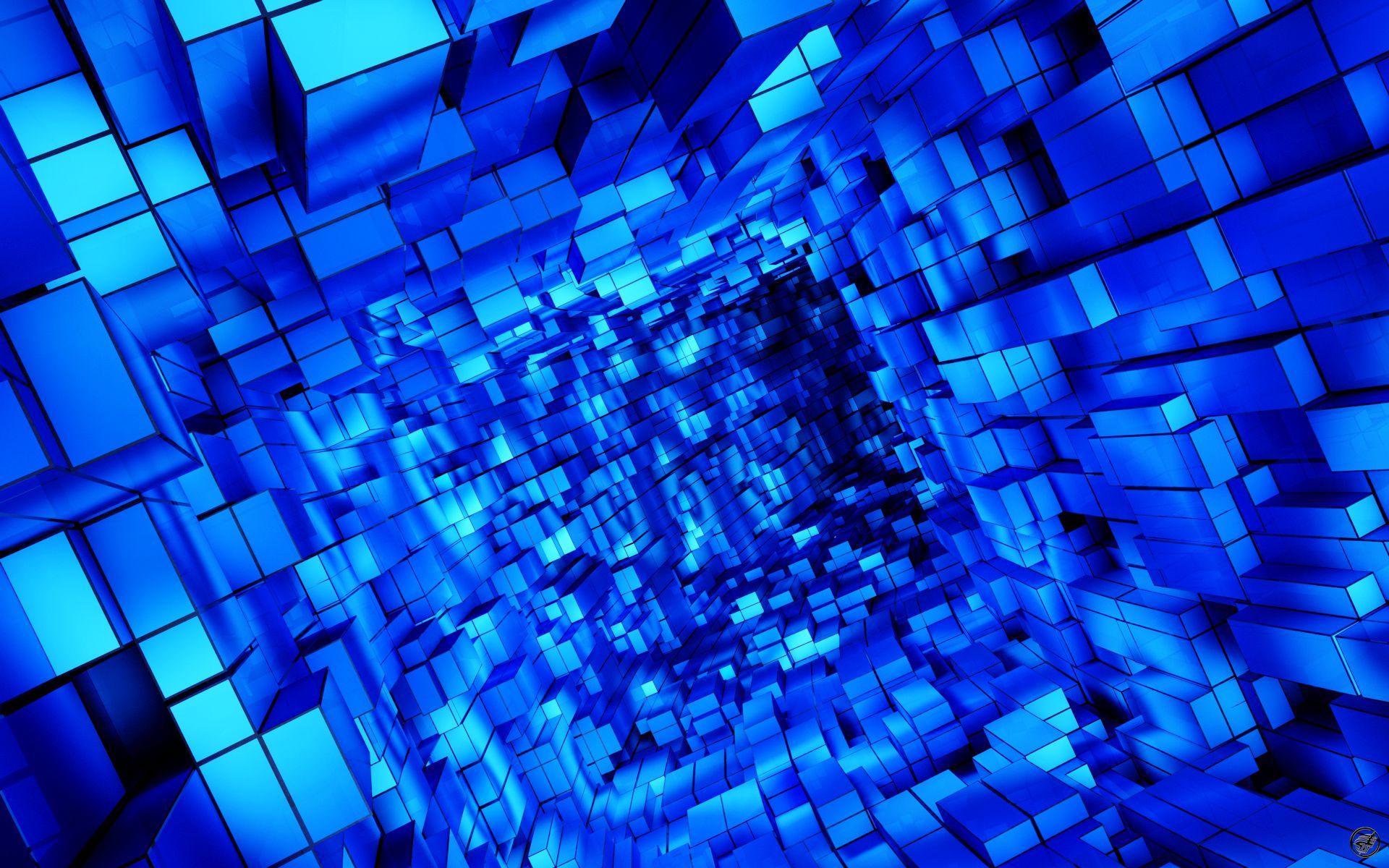 The Blue Cubes Way Wallpaper Hd Http Imashon Com W Blue Cubes Way Wallpaper Hd Html Blue Background Wallpapers Cool Blue Wallpaper Blue Abstract