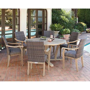 Hilo 100% FSC Certified Teak 7-piece Dining Set | Porch | Pinterest ...