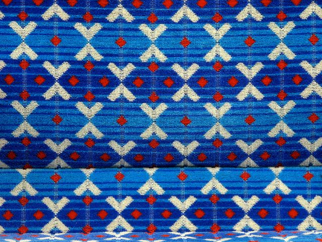 Victoria line train seat fabric london transport public for Fabric with trains pattern