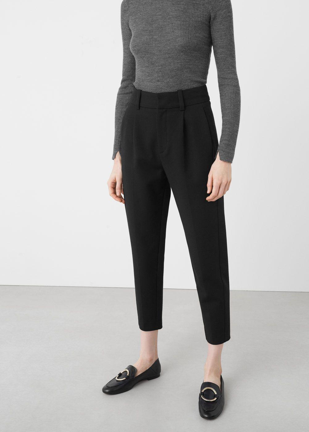 Pantalones Vestir Tiro Alto Mujer Espana
