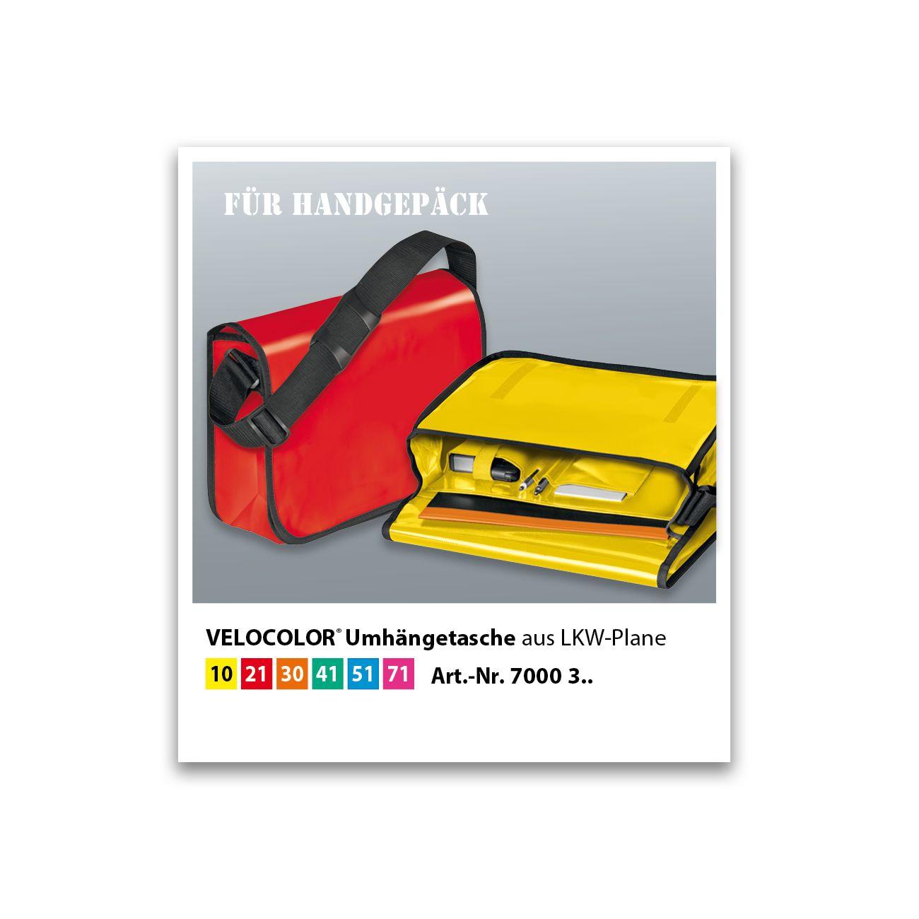 VELOFLEX Umhängetasche VELOCOLOR® LKW-Plane gelb