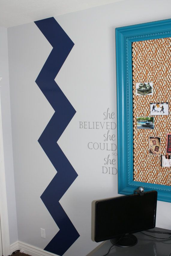 Giant Chevron Wall Decal. What A Great Idea For A Border Or On Either Side