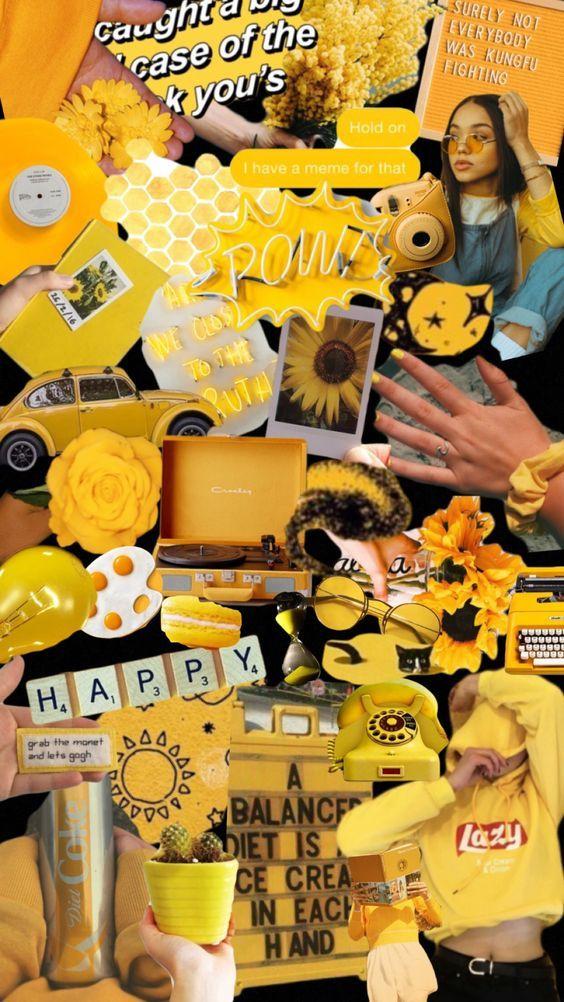 trendy yellow wallpaper