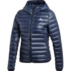 Adidas Damen Varilite Hooded Daunenjacke, Größe M in Blau ...