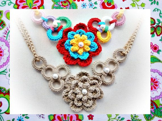 Wonderful and Simple Crochet Necklace Pattern door wonderfulhands