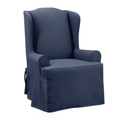Enjoyable Wing Back Chair Cover Sapphire Blue Or Coffee Target 80 Ibusinesslaw Wood Chair Design Ideas Ibusinesslaworg