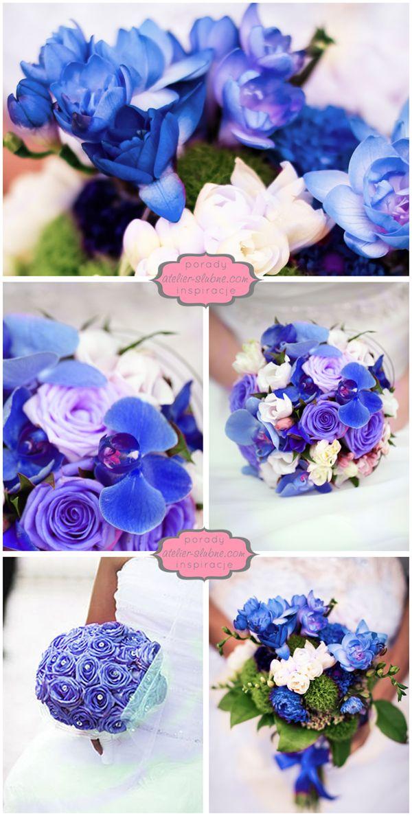 Cos Niebieskiego Niebieskie Bukiety Slubne Niebieski Bukiet Blog Slubny Stylowe Inspiracje Na Slub Dekor Wedding Colors Royal Blue Color Wedding Wedding
