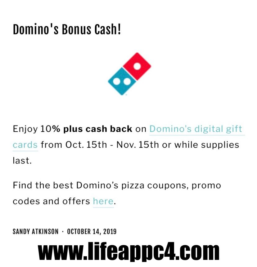 WHAT! Check out this amazing deal at Dominos when you pay