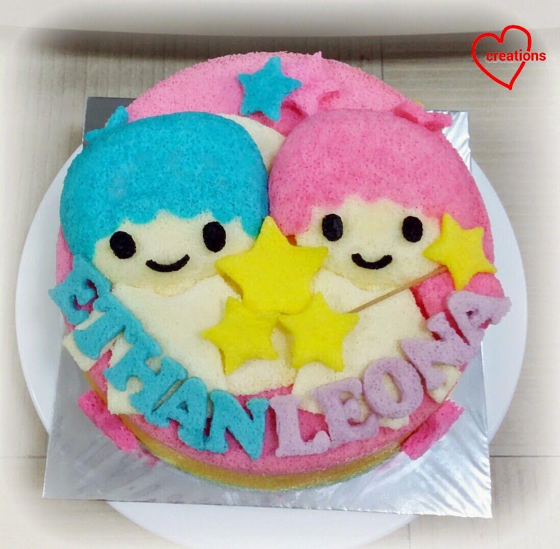 LIttle Twin Stars Chiffon Cake, Rainbow Orange chiffon cake