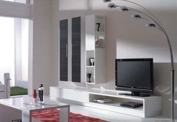 lampara de pie decorativa sala de estar   Diseño.- Muebles: TV ...