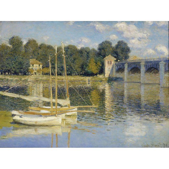 The Argenteuil Bridge by Monet Canvas Print - An Artist's Eye on Joss & Main