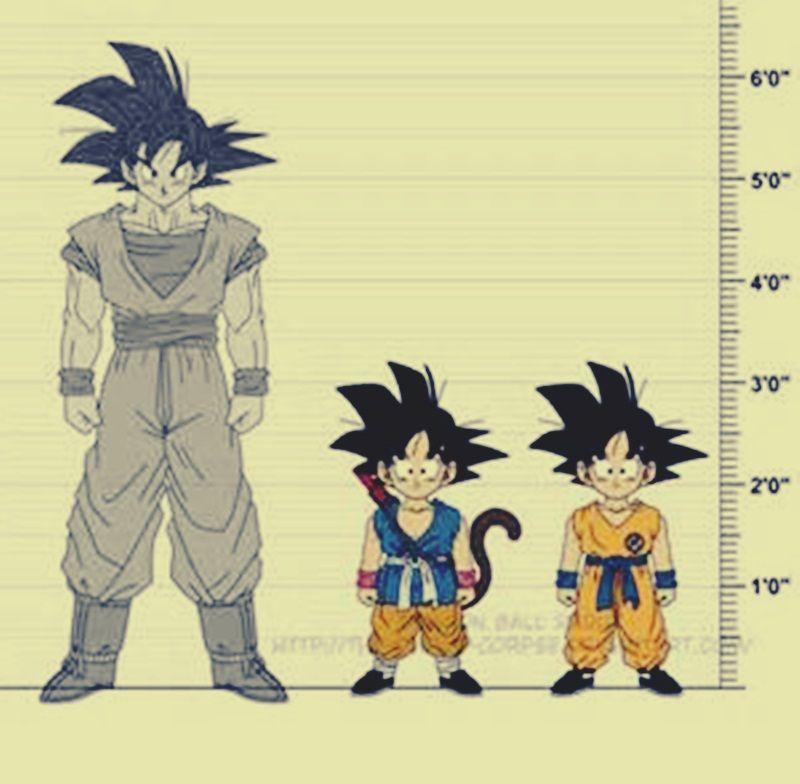 How Tall Is Goku Anime Dragon Ball Super Goku Anime Character Design