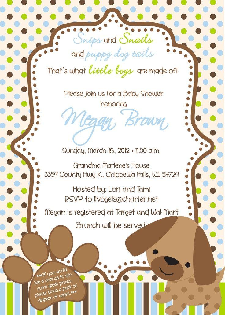 Puppy Baby Shower Invites Puppy Theme Baby Shower