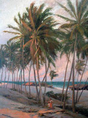 AURÉLIO DE FIGUEIREDO - Praia de Fortaleza Óleo sobre tela