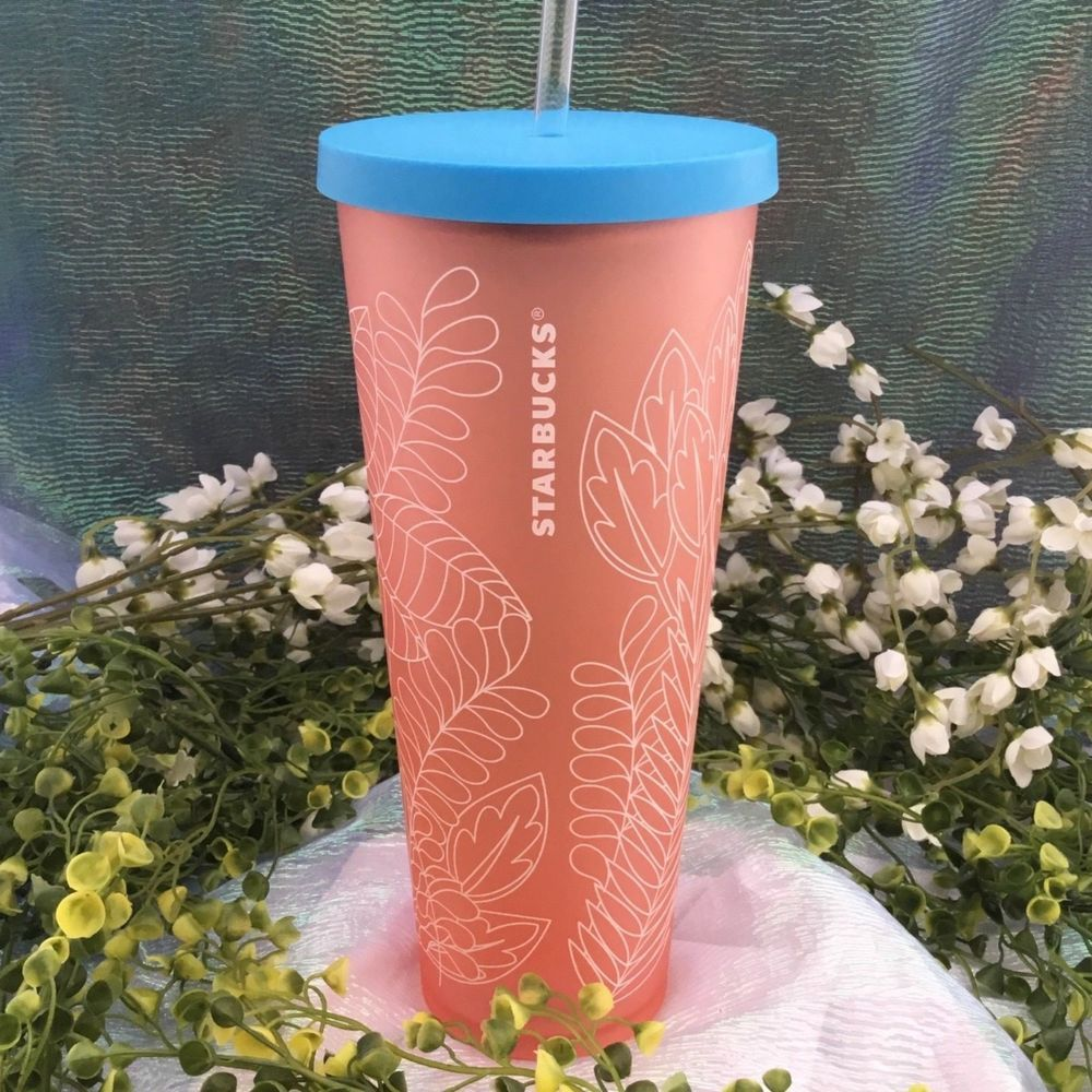 Starbucks 2018 Iced Venti Summer Tumbler Matte Coral Pink