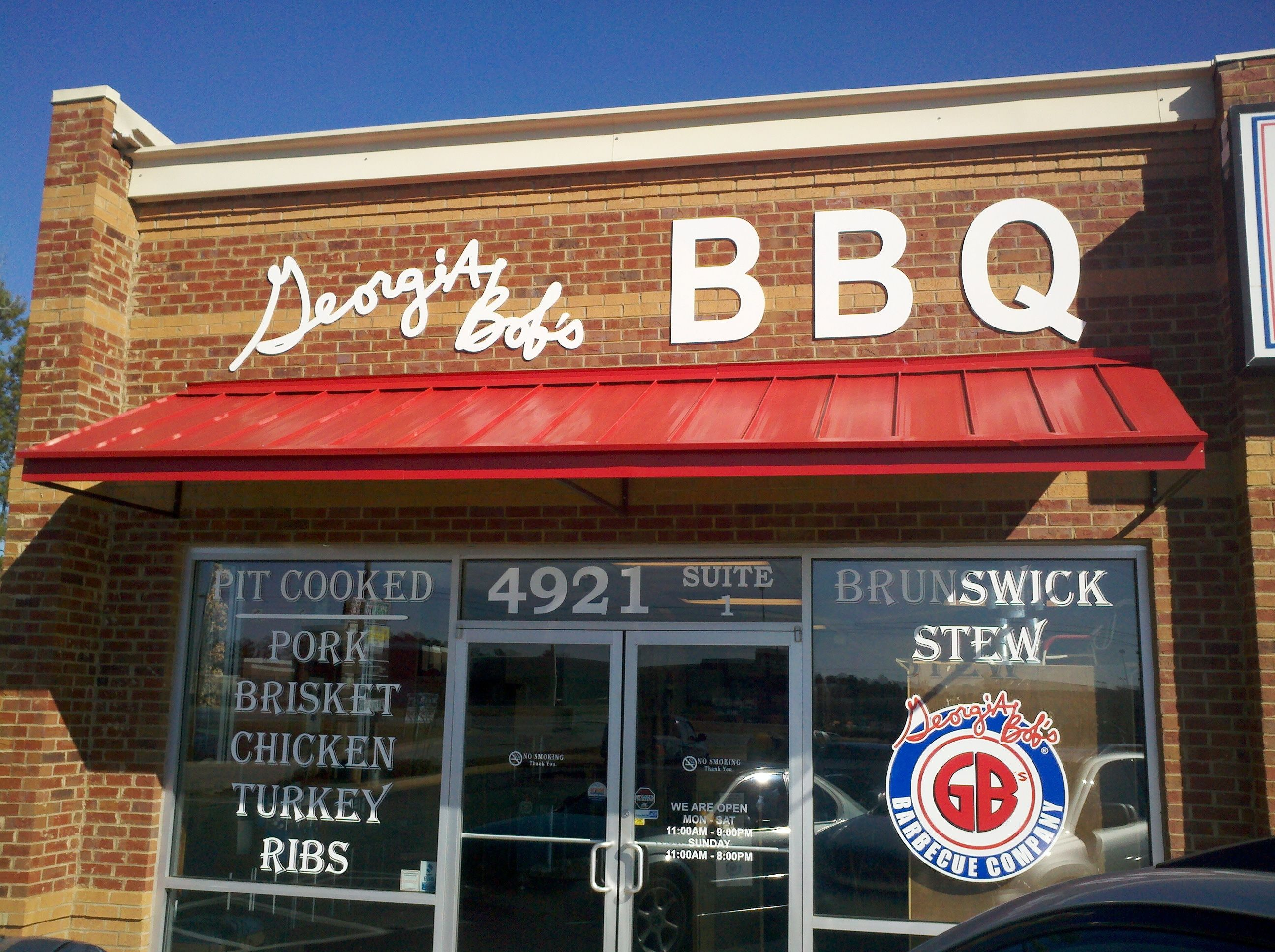 Georgia Bob S Barbeque Located N Riverside Across From The