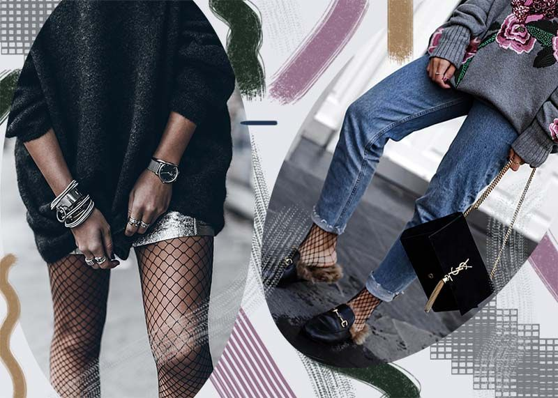 2215b2af234 How to Wear Fishnet Tights and Socks Like a  90s Fashion Star