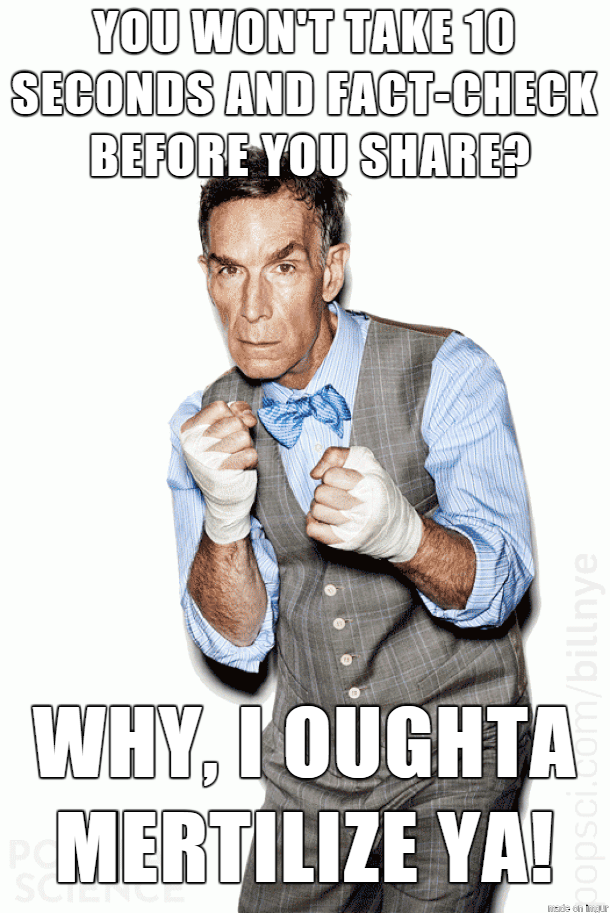 Bill Nye says FactCheck! Bill nye, Popular science