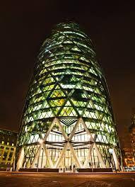 노먼 포스터 : 30 세인트 메리 액스(30 St Mary Axe) 별명 '거킨' - 2003년 완공 Norman Foster : 30 St Mary Axe (The Gherkin, 2003) in London also known as Swiss Re Building