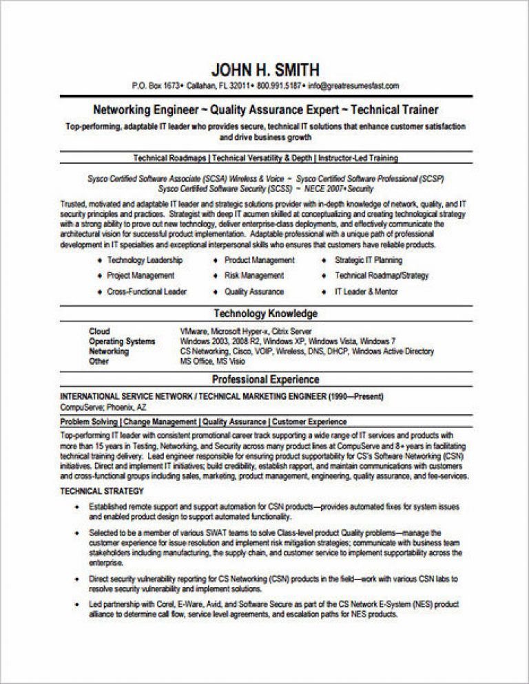 Emphasize Your Skills in Your Network Engineer Resume Network