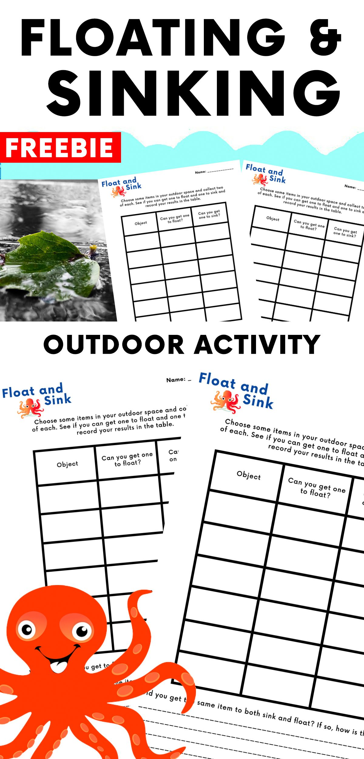 Floating And Sinking Outdoor Challenge