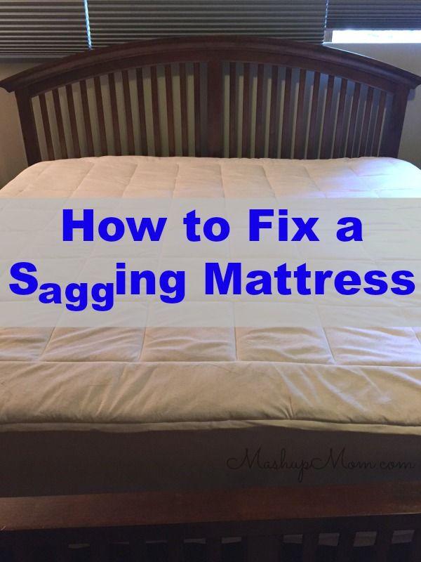 How To Fix A Sagging Mattress On The Cheap Sagging Mattress