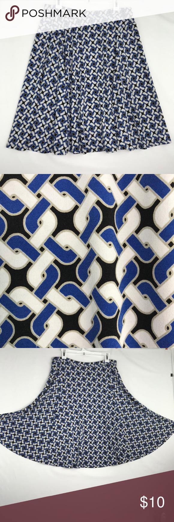 Michael Michael Kors Knit Circle Skirt Black Blue   Black ...