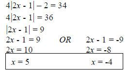 4 Solve The Absolute Value Equation Absolute Value Equations Linear Equations Equations