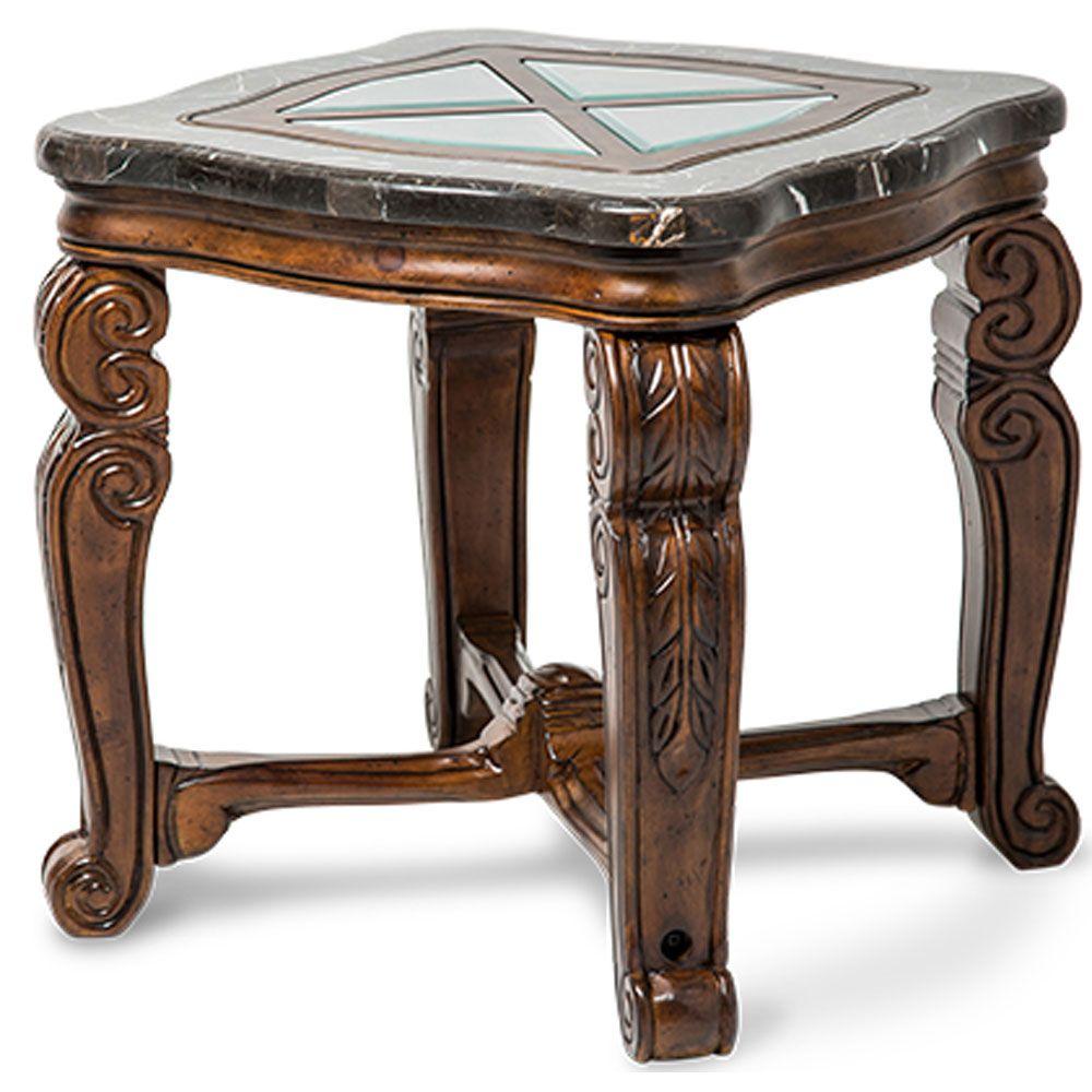 Best Aico Tuscano Melange End Table By Michael Amini Ai 34202 400 x 300