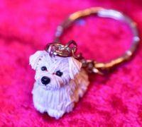 Malteser Terrier hond sleutelhanger