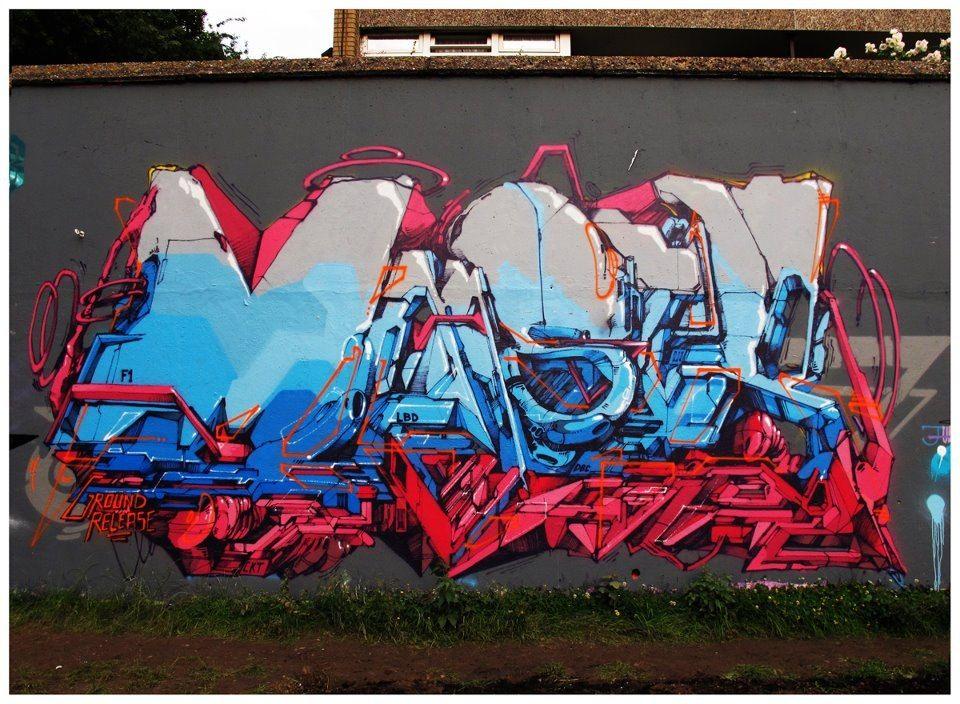 Graffiti artist Dem189