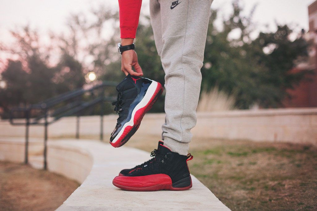 jordan retro 12 flu game on feet - Google Search