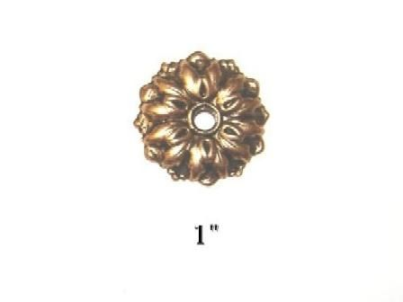 Antique Hardware Mirror Rosettes, How To Install Mirror Rosettes