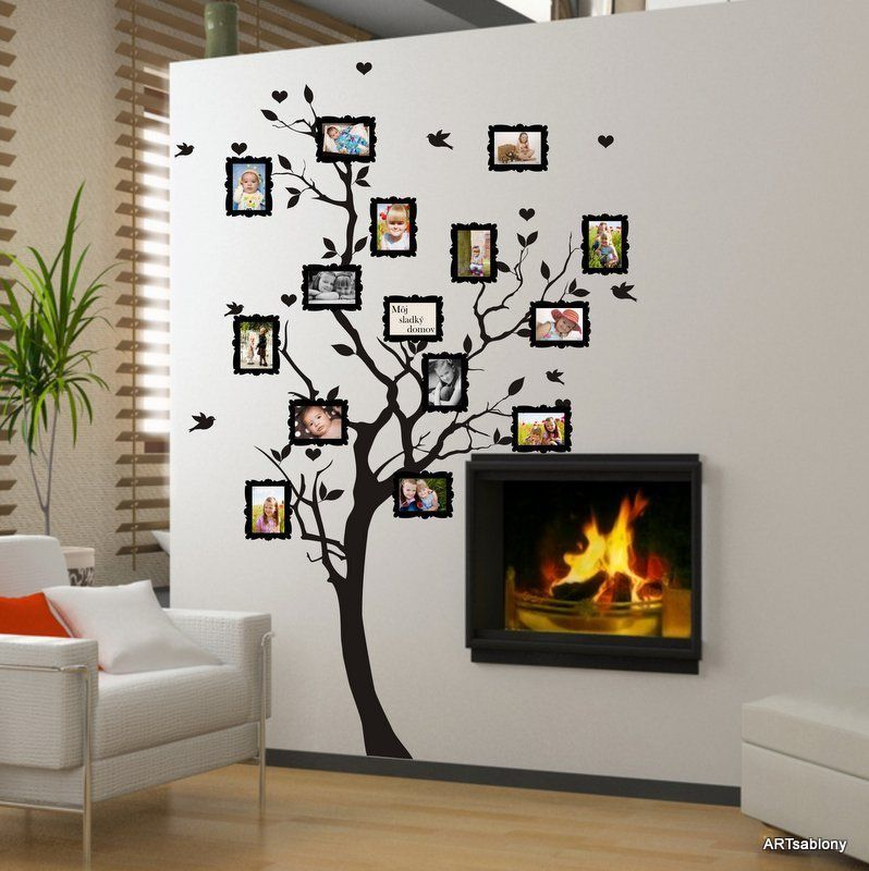 Wall Sticker Arbre Généalogique Des Photos In 2019 Deco Wall