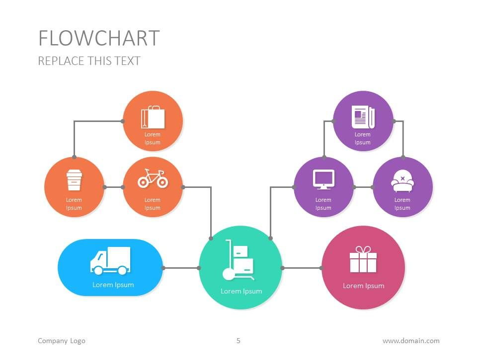 Here s another flowchart design for your presentation chart