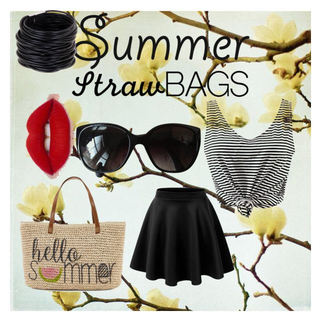 """summer"" by julesrme ❤ liked on Polyvore featuring Straw Studios, Chanel, Saachi and strawbags"