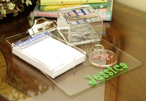 Personalized Acrylic Clipboard & Office Accessories ~ 'Tis the season! 9 of these Personalized Acrylic Clipboards are on their way to San Rafael, CA! We're assuming they're going to be holiday gifts for teachers, fantastic!